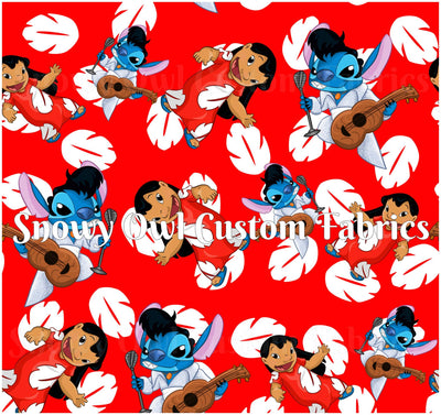 Red Rockin' Stitch - SWIM