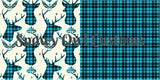 SOC Plaid BUCKS - AQUA ON SALE
