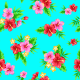Tropical Hibiscus  (Aqua) - ON SALE!