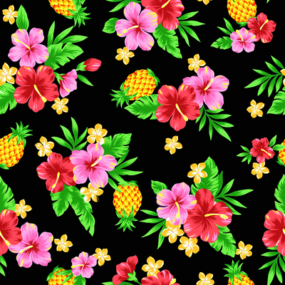 Tropical Pineapple (Black)