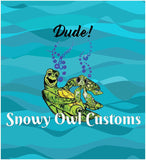 Dude! Turtles Panel - ON SALE!