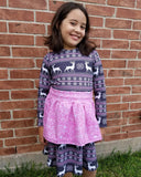 Pink Deer Sweater Print Flawed Remnant - **CLEARANCE**
