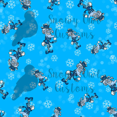 Snow Brother Print Cotton Lycra Remnant                          **CLEARANCE**