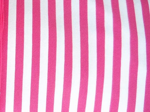 Hot PINK/White Stripes (yarn-dyed) - ON SALE!