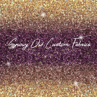 Purple/Gold Ombre Faux Glitter