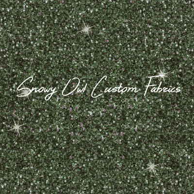 Forest Green Faux Glitter