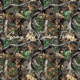Forest Green Faux Glitter Camo