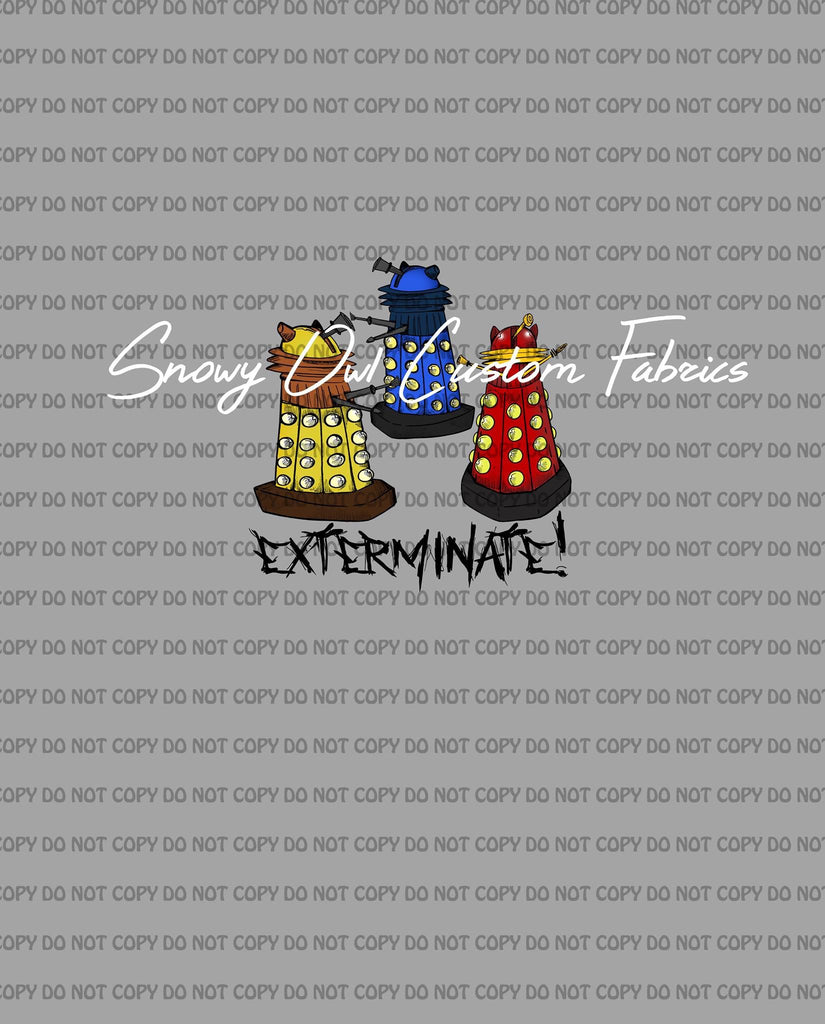 Flawed  - Dalek, Bad Wolf, Don't Blink, Exterminate & Doc Tardis CANVAS Panels
