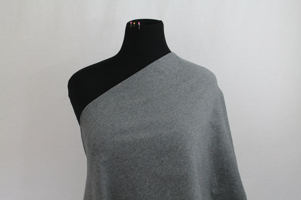 "THICK Medium Heathered Gray 280GSM - 70"" WOF CL knit"