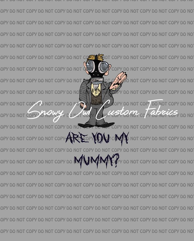 Are You My Mummy Panels (Grey & Teal)