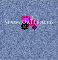 My Little Pink Tractor Panel - ON SALE!