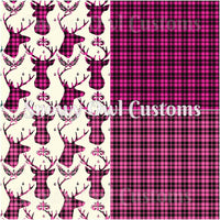 SOC Plaid Hot Pink & Bubblegum Pink BUCKS - ON SALE Remnants