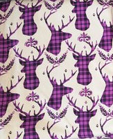 SOC Plaid BUCKS Purple Remnant - ON SALE