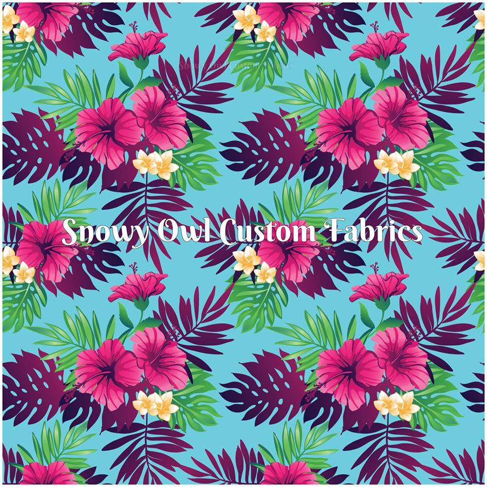 Raspberry Hibiscus On Sale Snowy Owl Fabrics