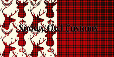 RETAIL* SOC Red Plaid BUCKS - ON SALE