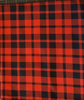 SOC Plaid Collection Red-Orange - ON SALE