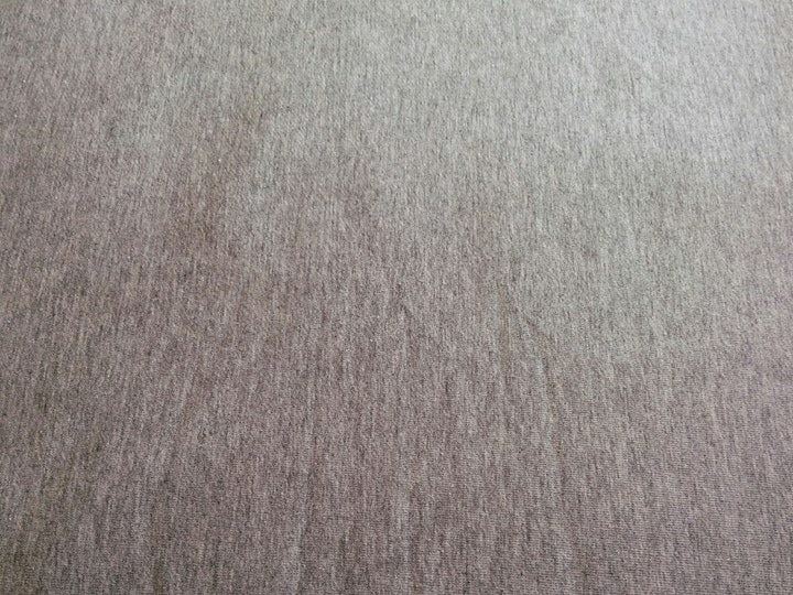 "#S25 Light Heathered Grey Stretch French Terry - 70"" WOF"