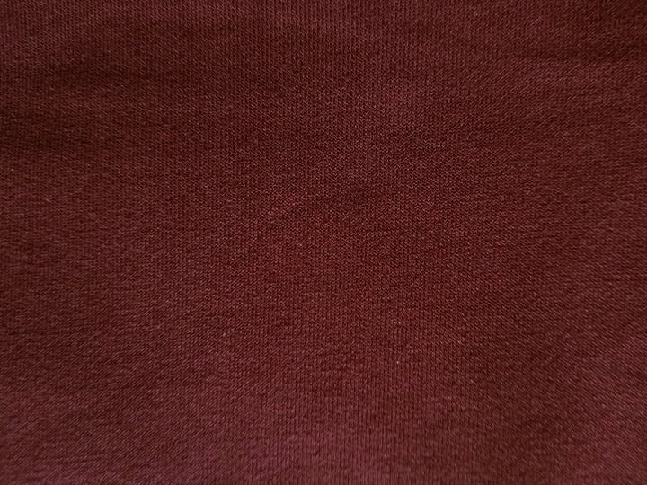 "#S26 Burgundy Stretch French Terry - 70"" WOF"