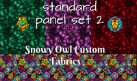 Standard Panel Set #2 and Stained Glass Coordinate  (HULK, Hawkeye and Iron Man)