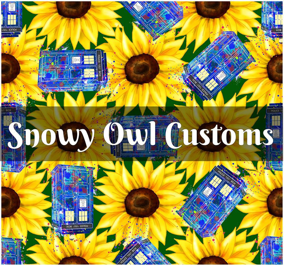 Sunflowers Tardis (Green) - RETAIL - ON SALE!