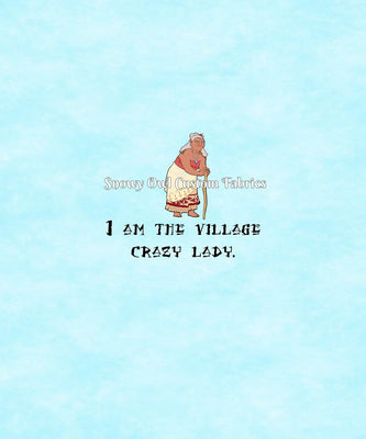 Village Crazy Lady Panel - Version #1 (Not Watercolor) - ON SALE!