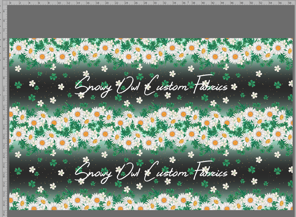Lucky Daisy's Border Print - SOC Unlimited