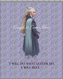 GOT WATERCOLOR - 2YD BLANKET TOPPER PANEL - DAENERYS - PASTEL