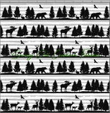 Forest Animals (Night Sky & Stripe) - SOC Unlimited