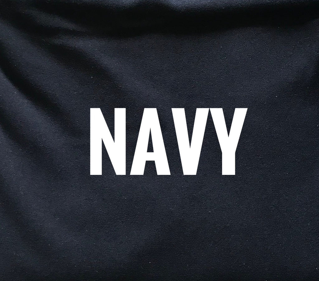 "THICK Navy Lush 280GSM - 70"" WOF CL knit   - ON SALE!"