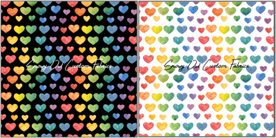 Rainbow Watercolor Hearts - SOC Unlimited