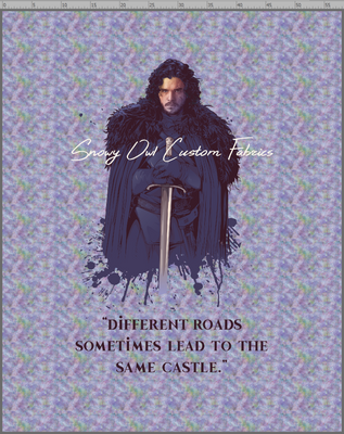 GOT WATERCOLOR - 2YD BLANKET TOPPER PANEL - JON SNOW - PASTEL