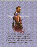 GOT WATERCOLOR - 2YD BLANKET TOPPER PANEL - KHAL DROGO - PASTEL