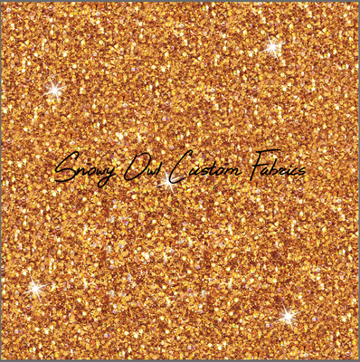 Lucky Orange Faux Glitter  - SOC Unlimited