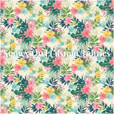 SOC Off White Tropical Floral -                   **CLEARANCE**