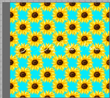 Sunflower Aqua - Small Coordinate - SOC Unlimited