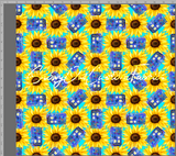 Sunflower Tardis Aqua - Small - SOC Unlimited