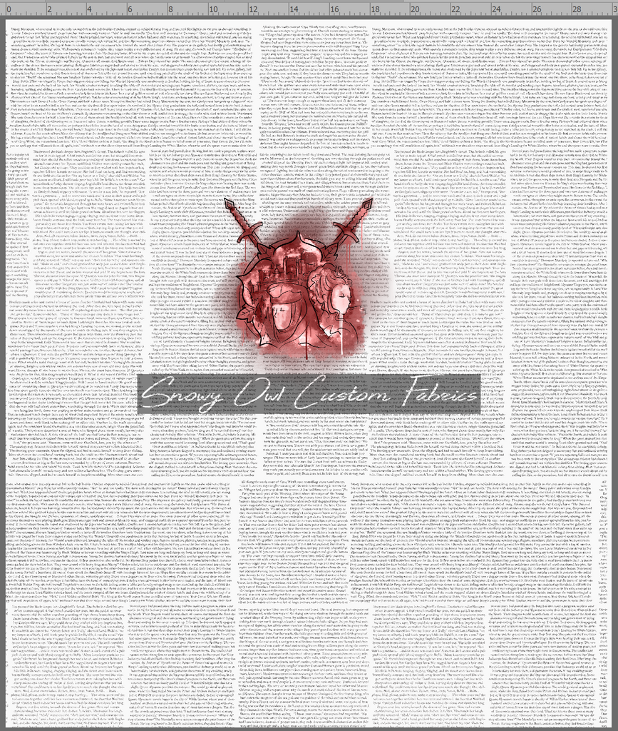 GOT HOUSE PANEL - TYRELL - RED