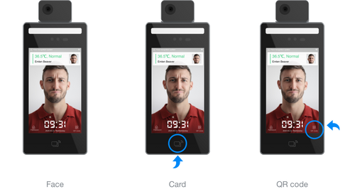 BundyPlus   Uface 8 Temp captures face, card and QR code workforce time and attendance