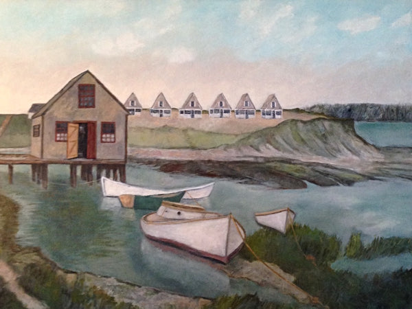 [Art Commission] Wellfleet Oyster Shack and Boatyard C. 1900