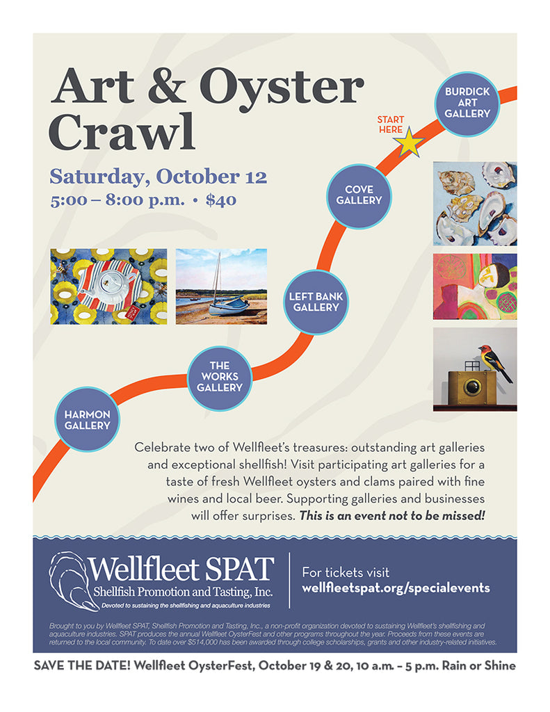 Art and Oyster Crawl sponsored by SPAT