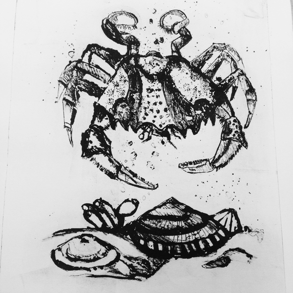Sea Life - Blue Crab Lithograph 1/5
