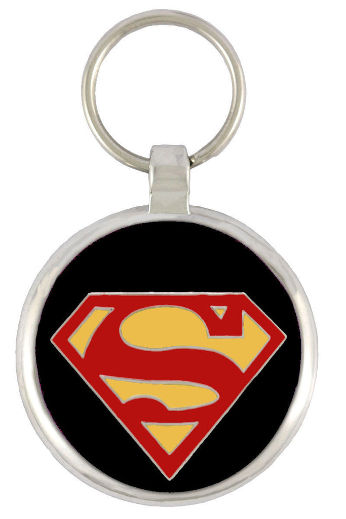 Superdog Black Pet Tag - Pawprint Pet Tags