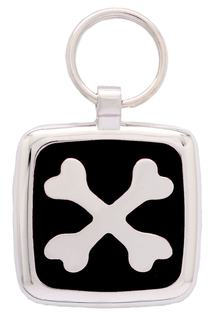 Black Crossbone Pet Tag - Pawprint Pet Tags