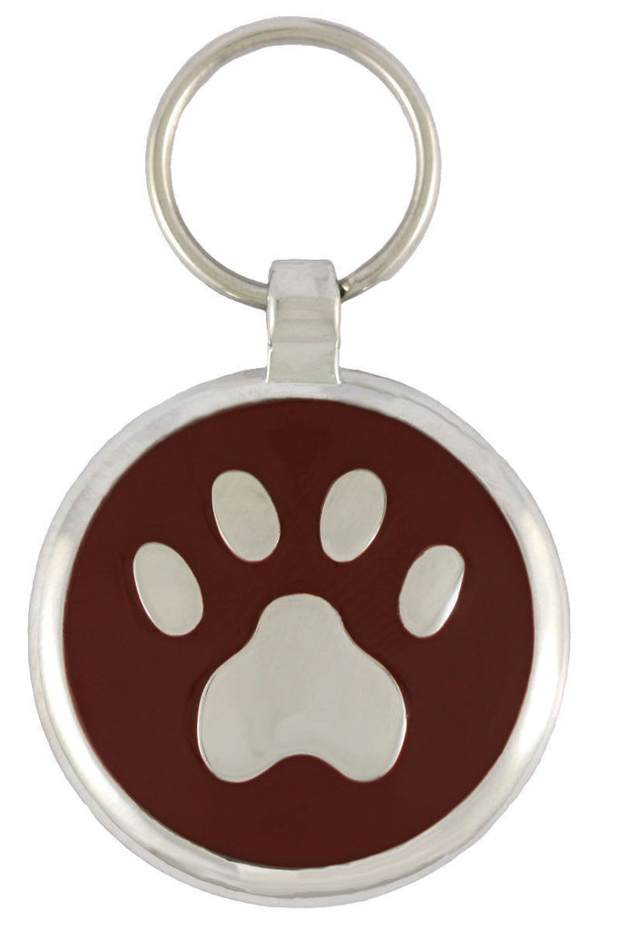 Brown Pawprint Pet Tag - Pawprint Pet Tags