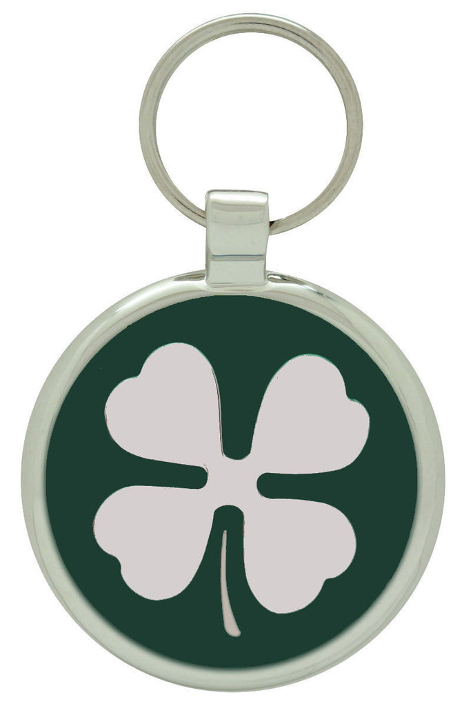 Dark Green Clover Pet Tag - Pawprint Pet Tags