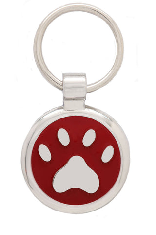 Extra Small Black Pawprint Pet Tag