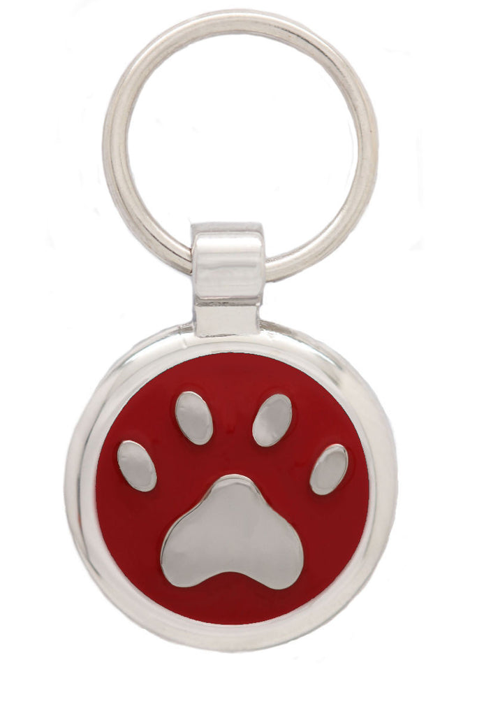 Fluro Pink Cat Collar and Extra Small Pawprint Pet tag - Pawprint Pet Tags