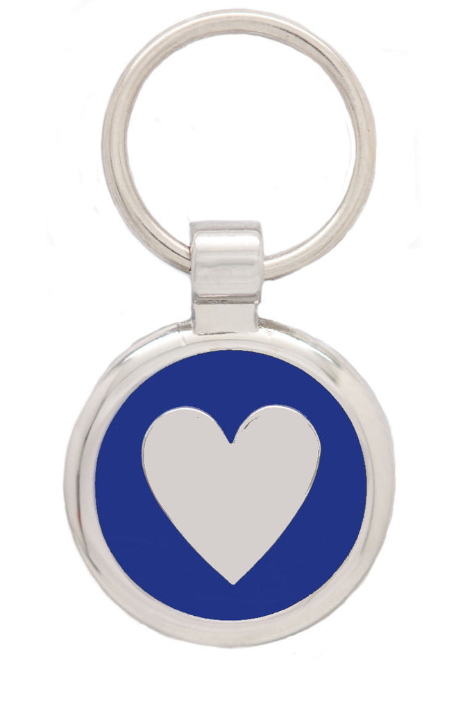 Extra Small Blue Love Heart Pet Tag - Pawprint Pet Tags