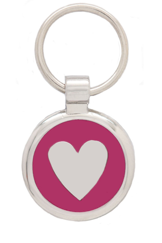 Extra Small Pink Love Heart Pet Tag - Pawprint Pet Tags