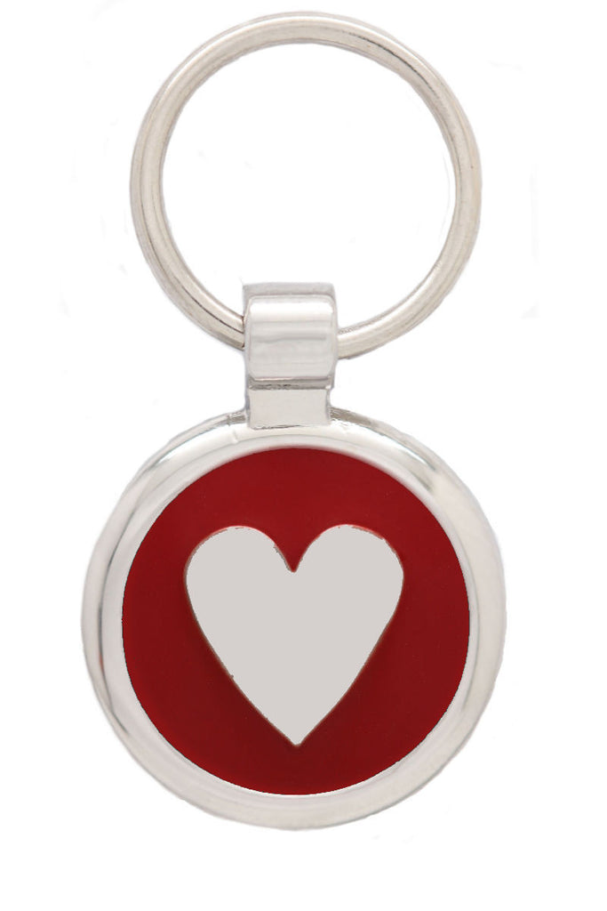 Extra Small Red Love Heart Pet Tag - Pawprint Pet Tags